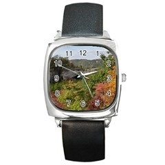 Natural Arch Square Metal Watches