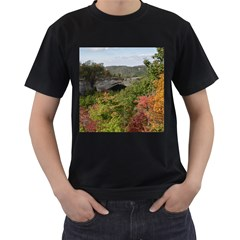 Natural Arch Men s T Shirt (black) (two Sided)
