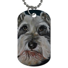 The Schnauzer Dog Tag (Two Sides)