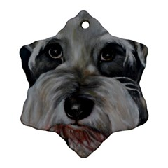 The Schnauzer Snowflake Ornament (2-Side)