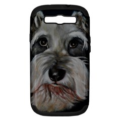The Schnauzer Samsung Galaxy S III Hardshell Case (PC+Silicone)