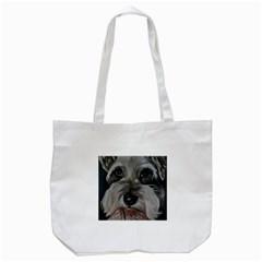 The Schnauzer Tote Bag (white)