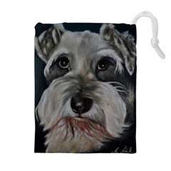 The Schnauzer Drawstring Pouches (Extra Large)