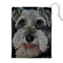 The Schnauzer Drawstring Pouches (XXL)
