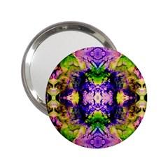 Green,purple Yellow ,goa Pattern 2 25  Handbag Mirrors