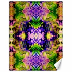 Green,purple Yellow ,goa Pattern Canvas 18  X 24