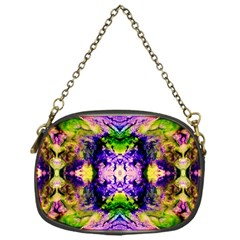Green,purple Yellow ,goa Pattern Chain Purses (one Side)