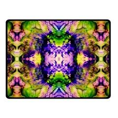 Green,purple Yellow ,goa Pattern Fleece Blanket (Small)