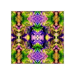 Green,purple Yellow ,goa Pattern Acrylic Tangram Puzzle (4  X 4 )