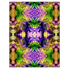 Green,purple Yellow ,goa Pattern Drawstring Bag (large)