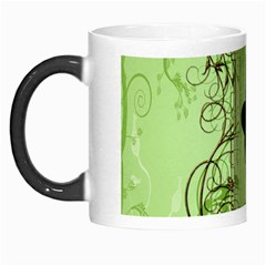 Cute Girl With Steampunk Hat And Floral Elements Morph Mugs
