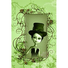 Cute Girl With Steampunk Hat And Floral Elements 5 5  X 8 5  Notebooks