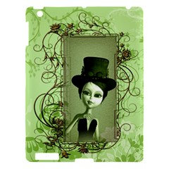 Cute Girl With Steampunk Hat And Floral Elements Apple iPad 3/4 Hardshell Case