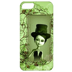 Cute Girl With Steampunk Hat And Floral Elements Apple iPhone 5 Classic Hardshell Case
