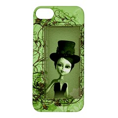 Cute Girl With Steampunk Hat And Floral Elements Apple iPhone 5S Hardshell Case