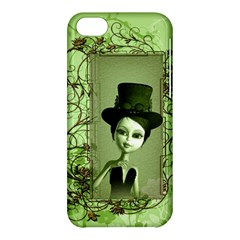 Cute Girl With Steampunk Hat And Floral Elements Apple iPhone 5C Hardshell Case
