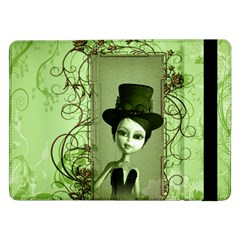 Cute Girl With Steampunk Hat And Floral Elements Samsung Galaxy Tab Pro 12.2  Flip Case