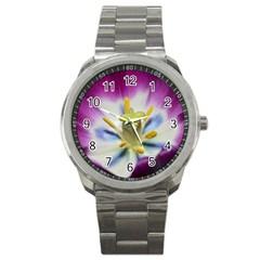Purple Beauty Sport Metal Watches