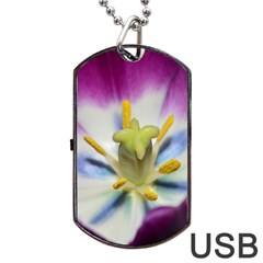 Purple Beauty Dog Tag USB Flash (Two Sides)