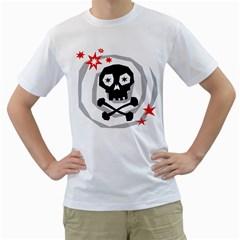 Spiral Skull Men s T Shirt (white)