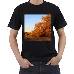 Beautiful Autumn Day Men s T Shirt (black) (two Sided)
