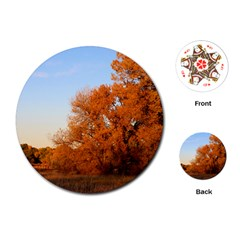 BEAUTIFUL AUTUMN DAY Playing Cards (Round)