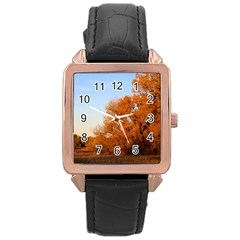 BEAUTIFUL AUTUMN DAY Rose Gold Watches