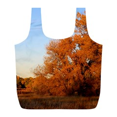 BEAUTIFUL AUTUMN DAY Full Print Recycle Bags (L)