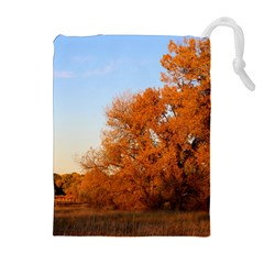 BEAUTIFUL AUTUMN DAY Drawstring Pouches (Extra Large)