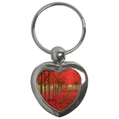 AVENUE OF TREES Key Chains (Heart)