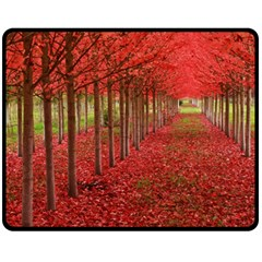 AVENUE OF TREES Double Sided Fleece Blanket (Medium)
