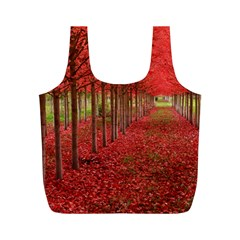 AVENUE OF TREES Full Print Recycle Bags (M)