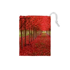AVENUE OF TREES Drawstring Pouches (Small)