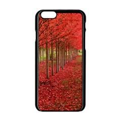 AVENUE OF TREES Apple iPhone 6/6S Black Enamel Case