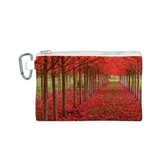 AVENUE OF TREES Canvas Cosmetic Bag (S)