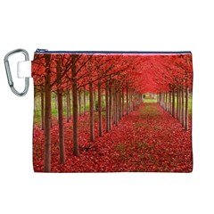 AVENUE OF TREES Canvas Cosmetic Bag (XL)