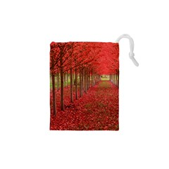 Avenue Of Trees Drawstring Pouches (xs)