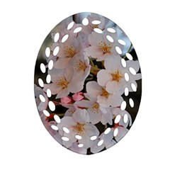 Sakura Oval Filigree Ornament (2 Side)