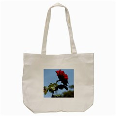 RED ROSE 2 Tote Bag (Cream)