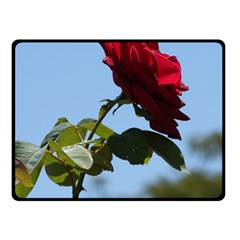 RED ROSE 2 Double Sided Fleece Blanket (Small)