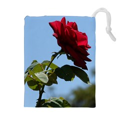 Red Rose 2 Drawstring Pouches (extra Large)