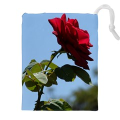 RED ROSE 2 Drawstring Pouches (XXL)