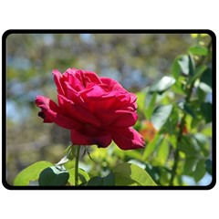 Red Rose 1 Double Sided Fleece Blanket (large)