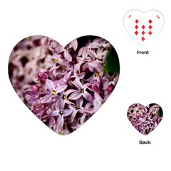 PURPLE LILACS Playing Cards (Heart)