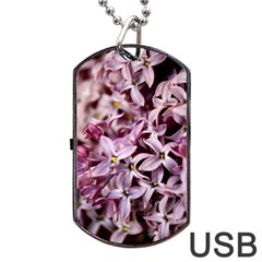 Purple Lilacs Dog Tag Usb Flash (two Sides)