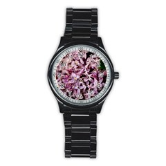 PURPLE LILACS Stainless Steel Round Watches