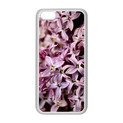 PURPLE LILACS Apple iPhone 5C Seamless Case (White)