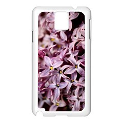 PURPLE LILACS Samsung Galaxy Note 3 N9005 Case (White)