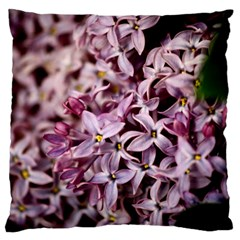 PURPLE LILACS Large Flano Cushion Cases (One Side)