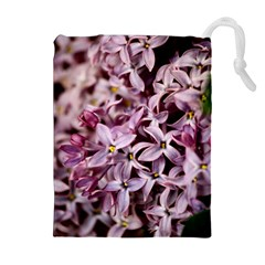 Purple Lilacs Drawstring Pouches (extra Large)